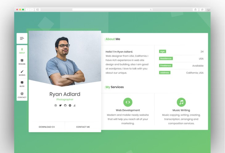 Best WordPress Resume Themes for Online CV 2019 - New Template