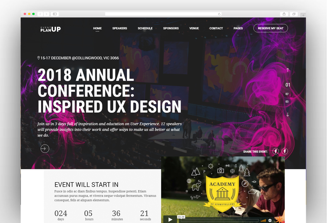 Grand Conference - Event Conference Theme - NewTemplate