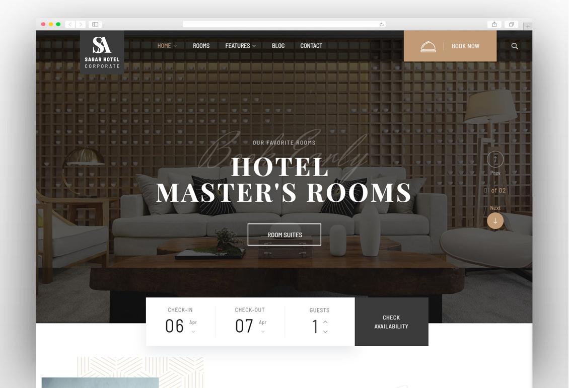 6f5c0b91a Top Hotel and Resort WordPress Themes 2019