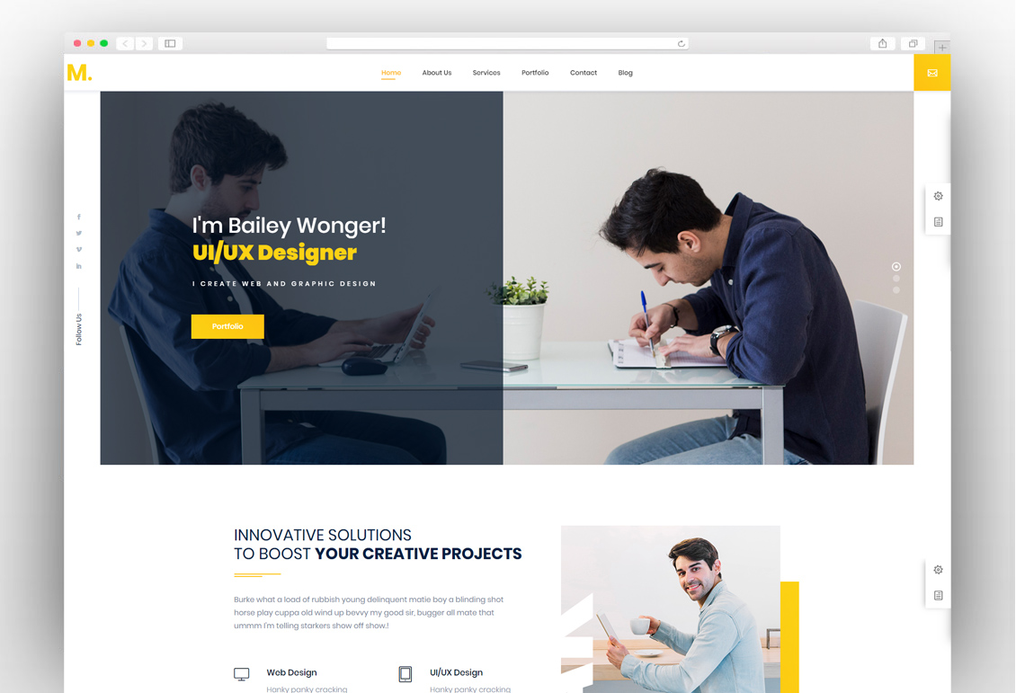 best wordpress resume themes for online cv 2019