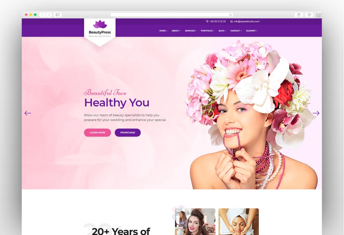 2a83b5251e0 12+ Best Spa, Beauty & Hair Salon WordPress Themes 2019 - New Template