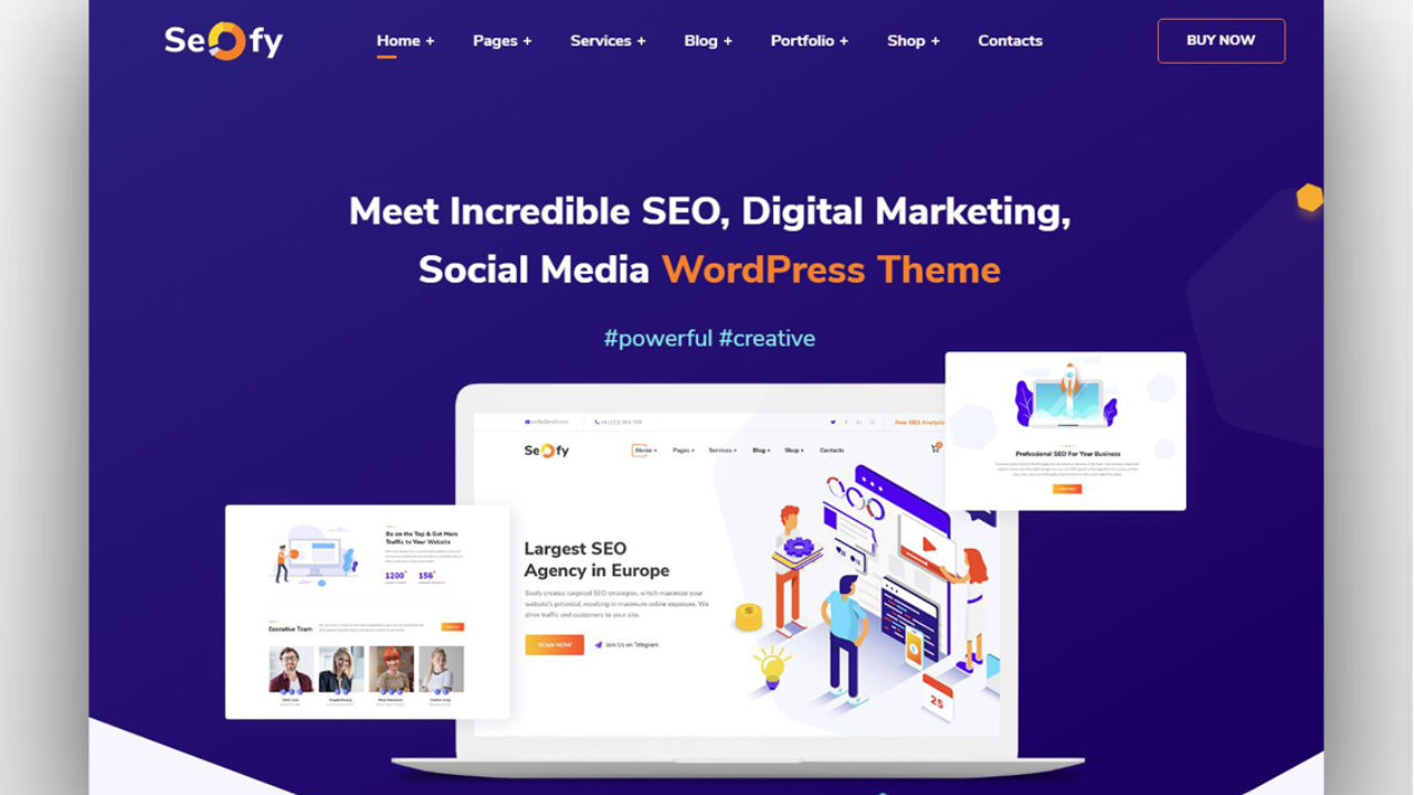 Best Creative Digital Agency WordPress Themes 2019 - New